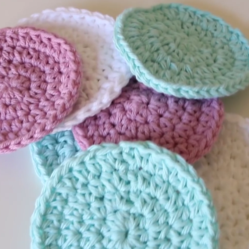 Photo of Cotton Crochet Face Scrubbies