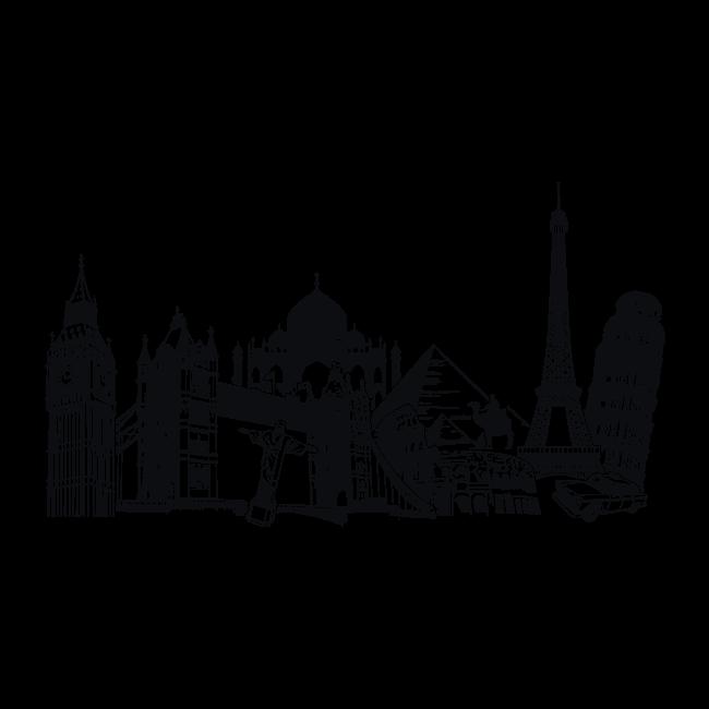 Vinilos ciudades y monumentos del mundo deco pinterest for Vinilos pared ciudades