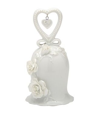 44% OFF Perfect Wedding Rose & Heart Porcelain Bell