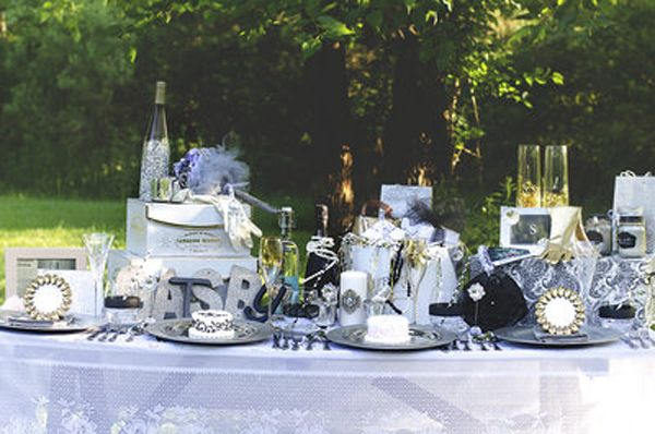 the great gatsby wedding table party planning ideas supplies idea