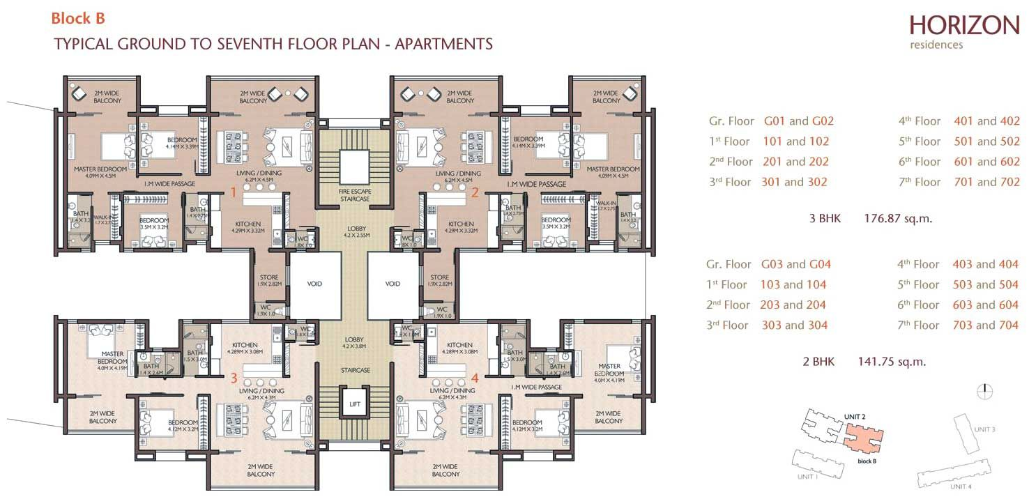 Apartment building plans floor plans cad block for 4 apartment building plans