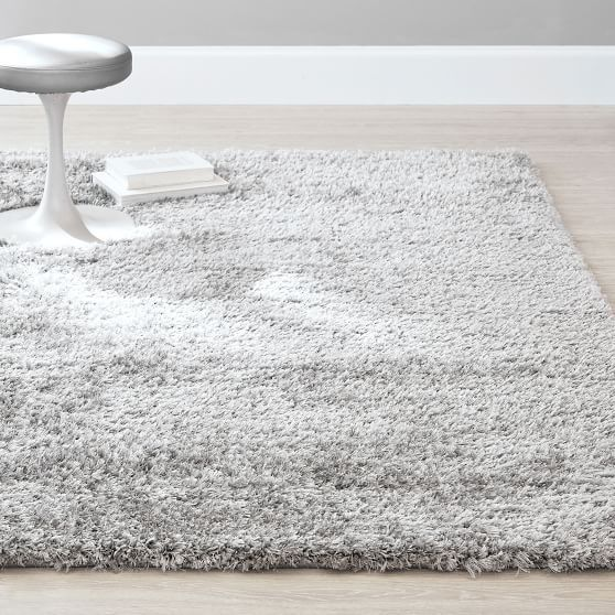 Performance Shimmer Shag Rug Light Gray Shag Rug Grey Bedroom Rug Cozy Rugs