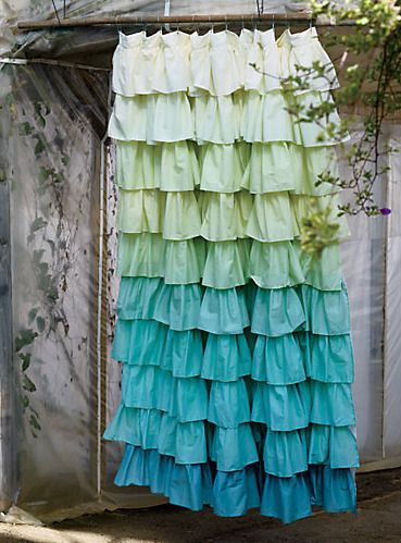 Adding Color 5 Impactful Shower Curtains Ruffle Shower Curtains Anthropologie Shower Curtain Ombre Shower Curtain