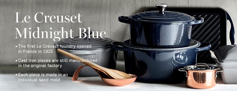 Le Creuset Midnight Blue Williams Sonoma Navy And Copper
