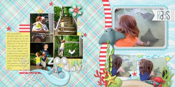 7 photo two page layout