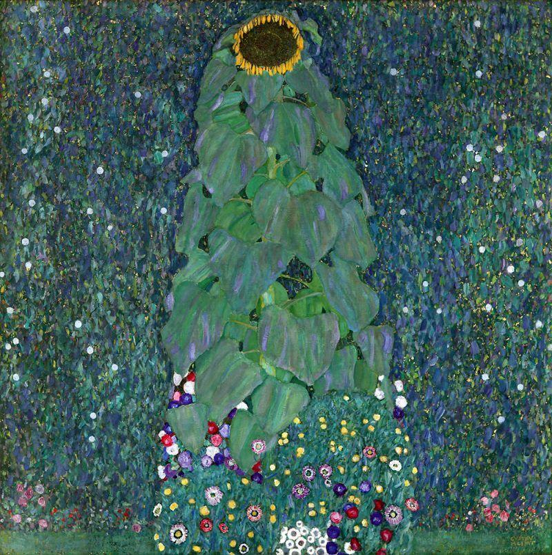 The Sunflower (O Girassol) de 1907. A composição geométrica da sua pintura não é mais apenas usada para efeito decorativo, mas para reforçar a observação do artista da cena, enquanto admira a abundância da natureza.