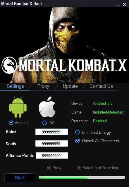 Mortal Kombat X Hack Without Survey - Add free Koins, Souls