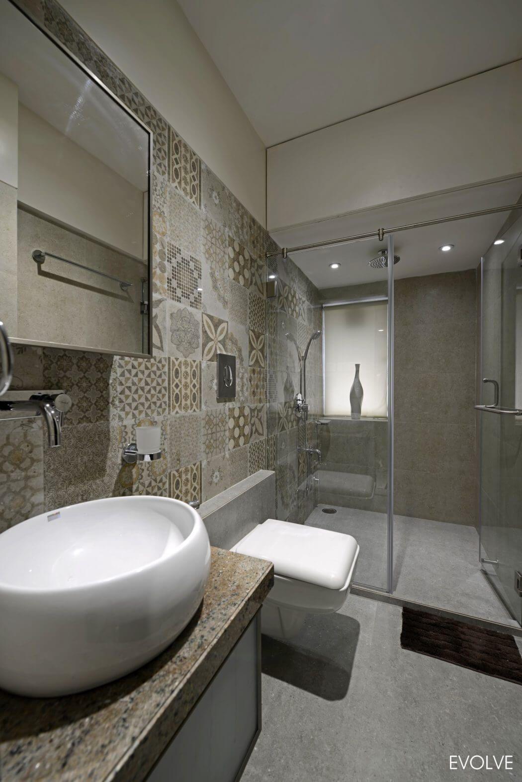 modern apartment in mumbai by evolve - Bathroom Designs In Mumbai