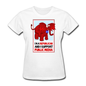 Republican Support For Public Media Cute Red Elephant Custom Tshirts Custom Clothes Personalized Shirts