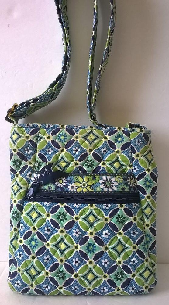 34d1a8001b Vera Bradley Daisy Daisy Blue   Green Crossbody Bag – Retired  VeraBradley   MessengerCrossBody