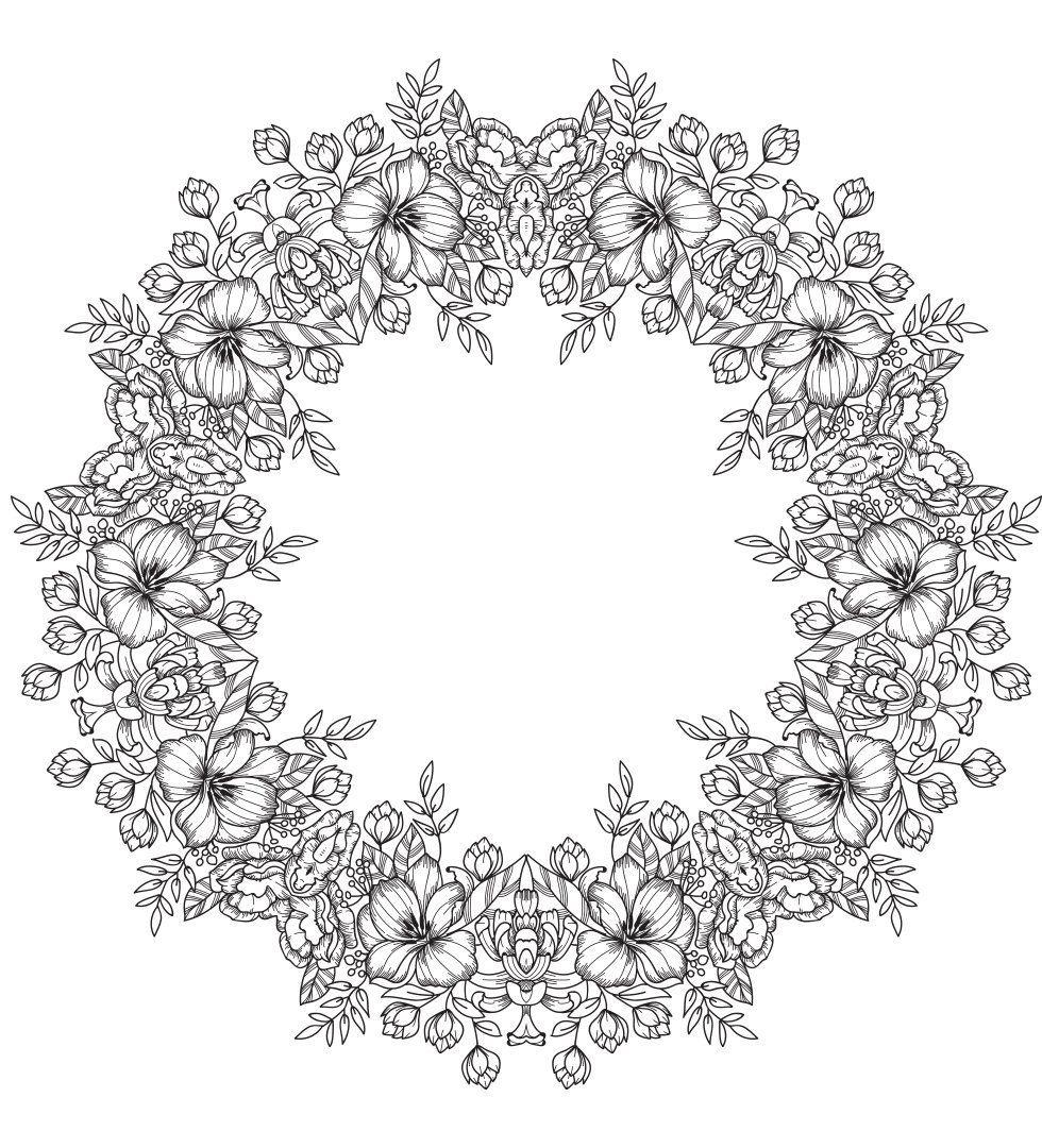 Mandala Flower Crown Free Printable Coloring Page Flower