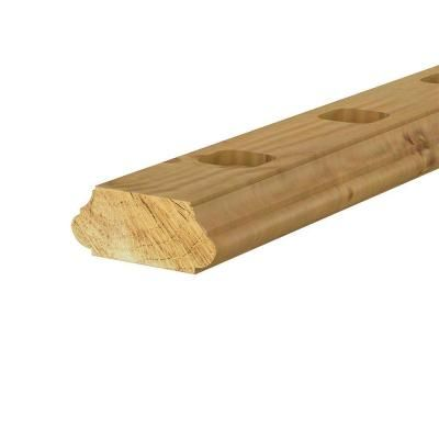 Best 2 In X 4 In X 6 Ft Pressure Treated Pine Routed Rail 640 x 480