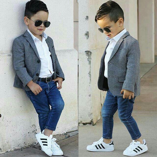 Kids World Little Boys Dress Shirt with Accessories