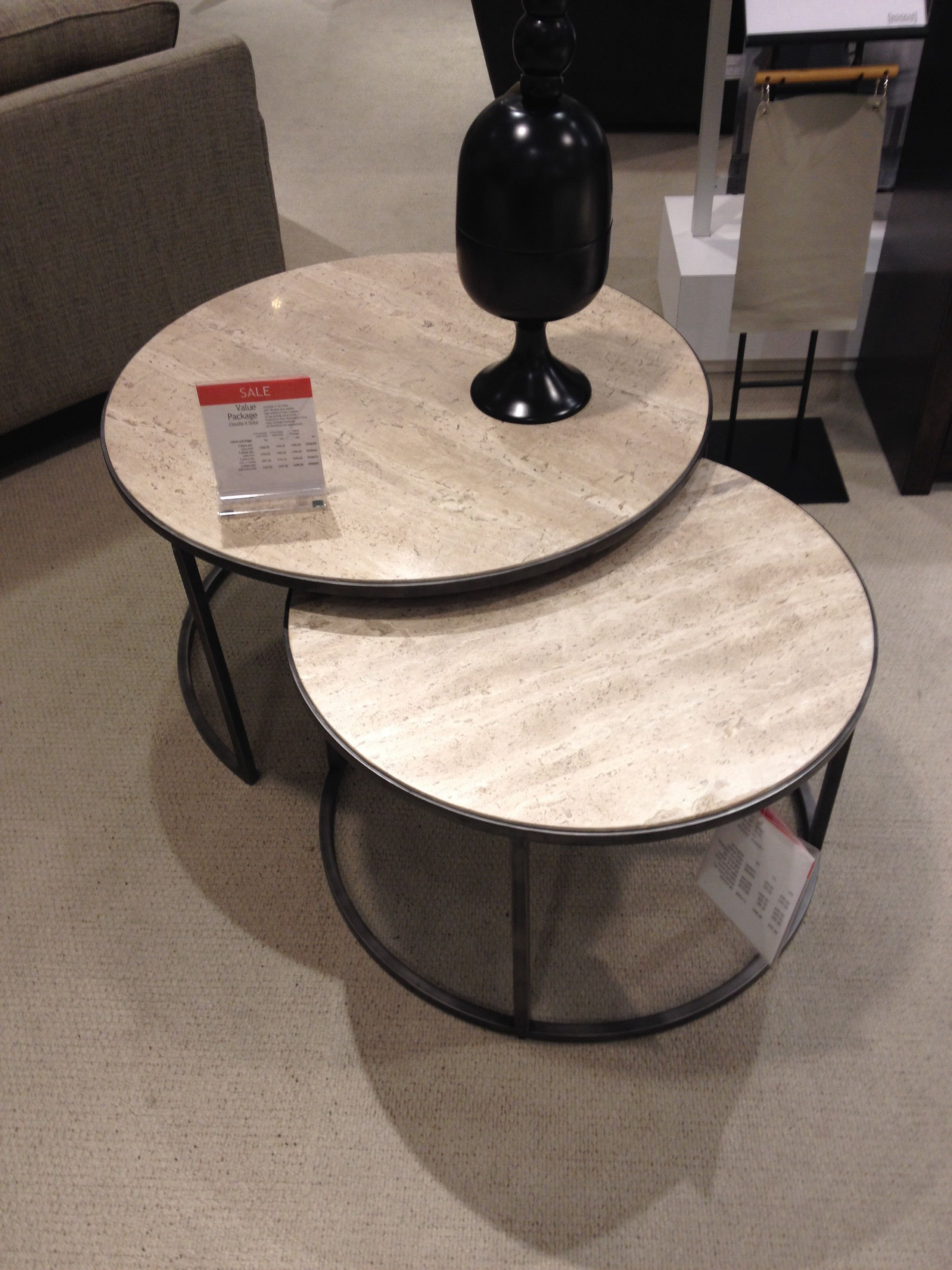 macy s furniture sofa tables microfiber sleeper sofas macy's monterey round nesting table $500 | living room ...
