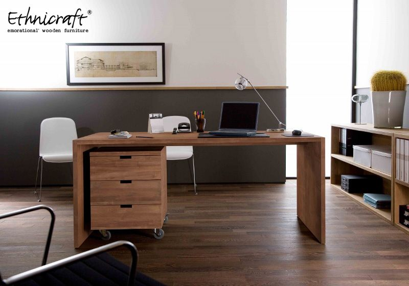 Home Office Furniture Teak Wood Desk And Bo