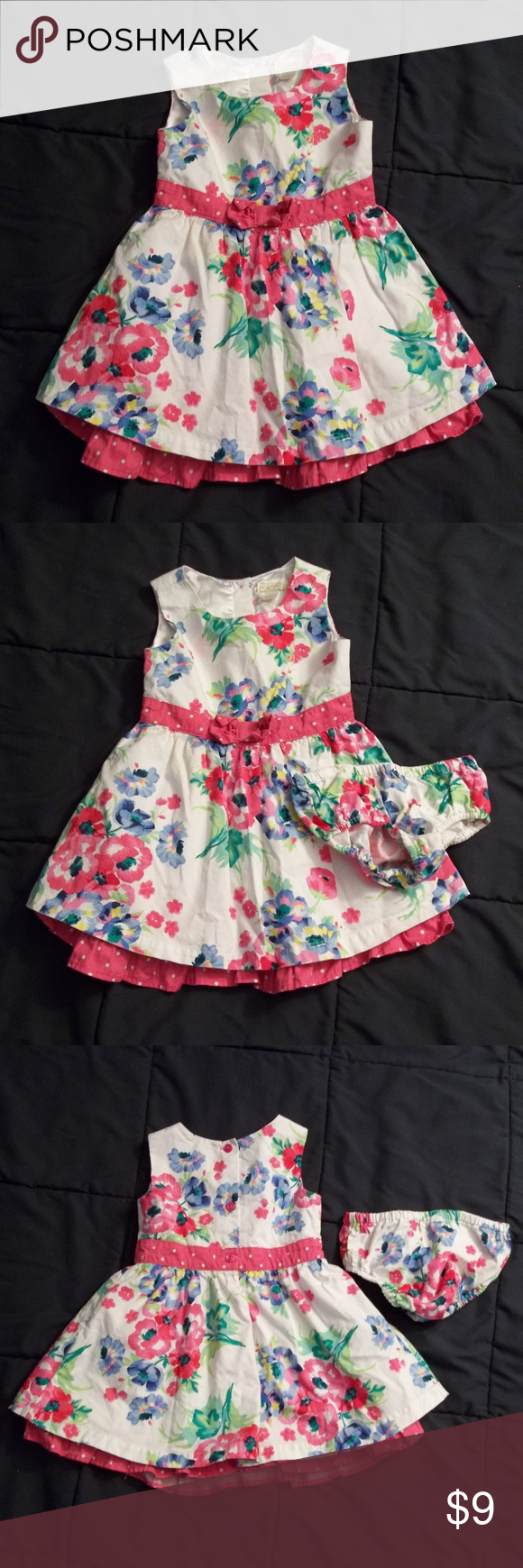 2482d64a94 Children s Place Floral Dress Sleeveless. 3 buttons in back. Pretty flowers  great for Easter