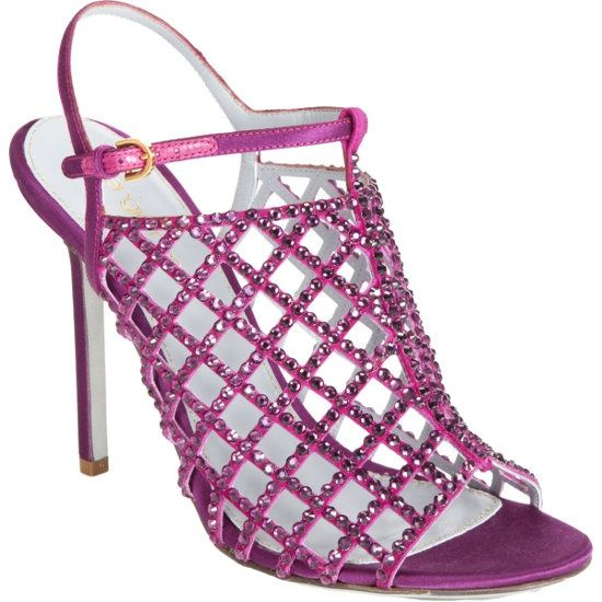 Sergio Rossi Crystal-Embellished Cage Sandal Main | fw2012 | USD1390 – This is gorgeous!