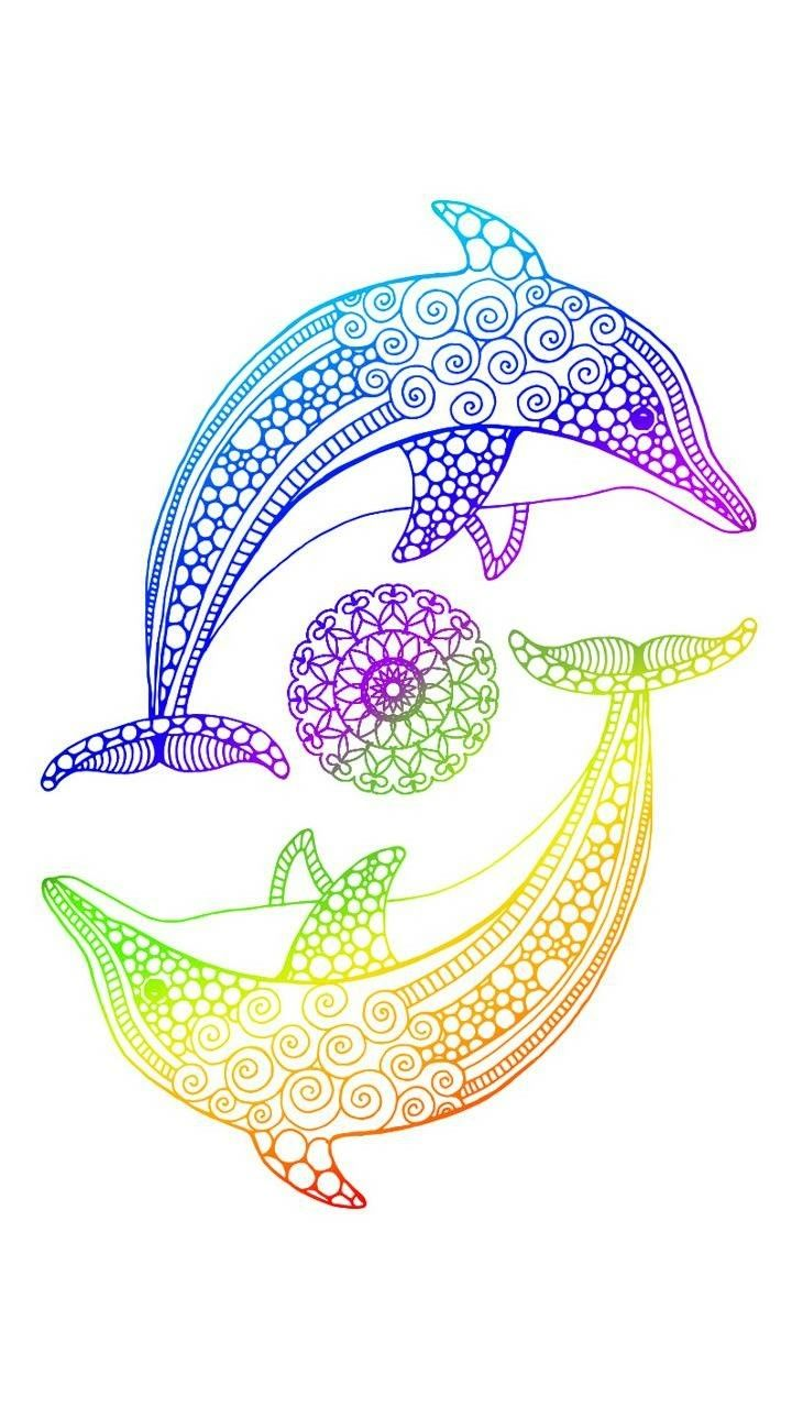 Dolphin art | Dolphin art, Dolphin drawing, Animal drawings