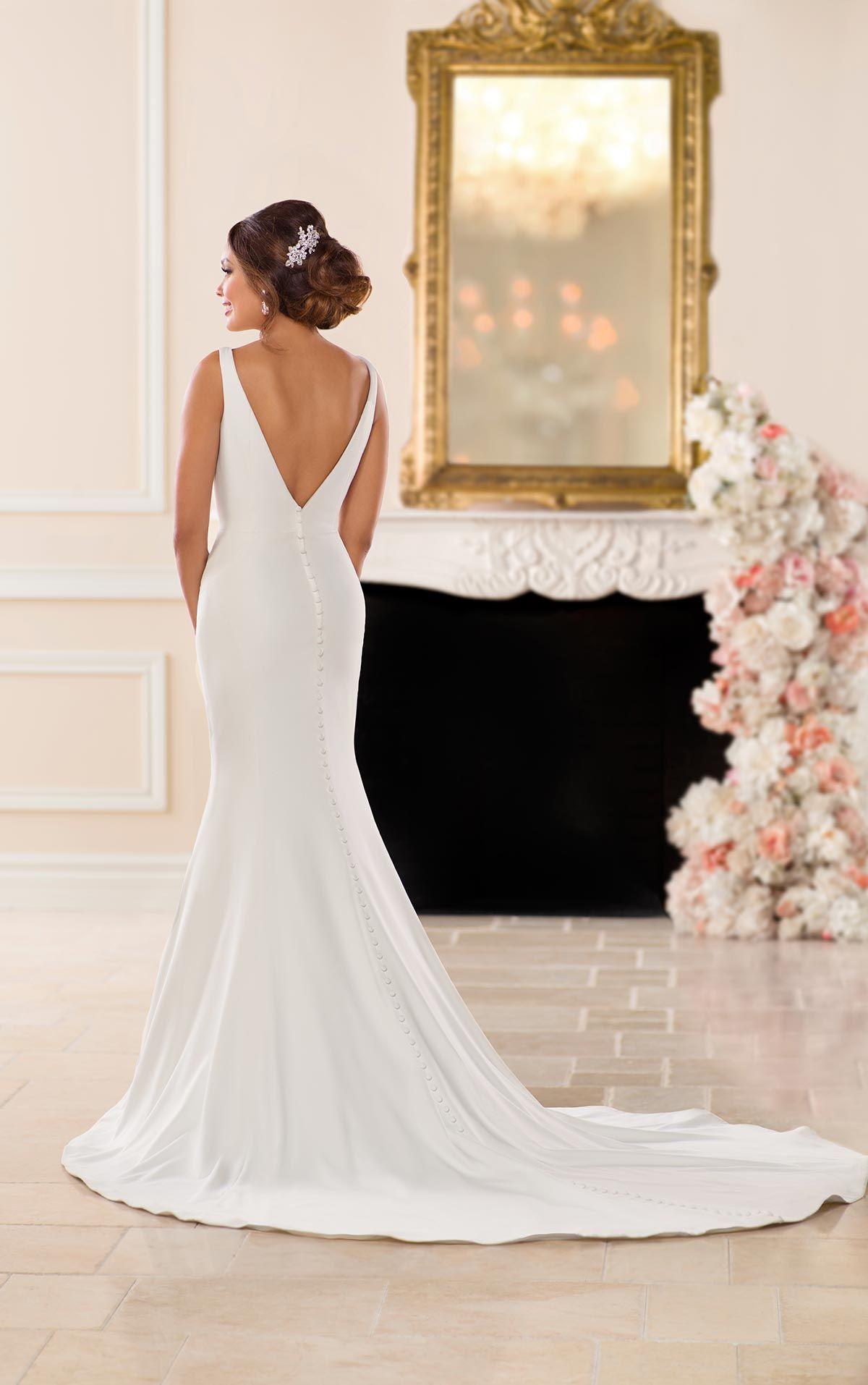 Simple sophisticated wedding dress in wedding dresses
