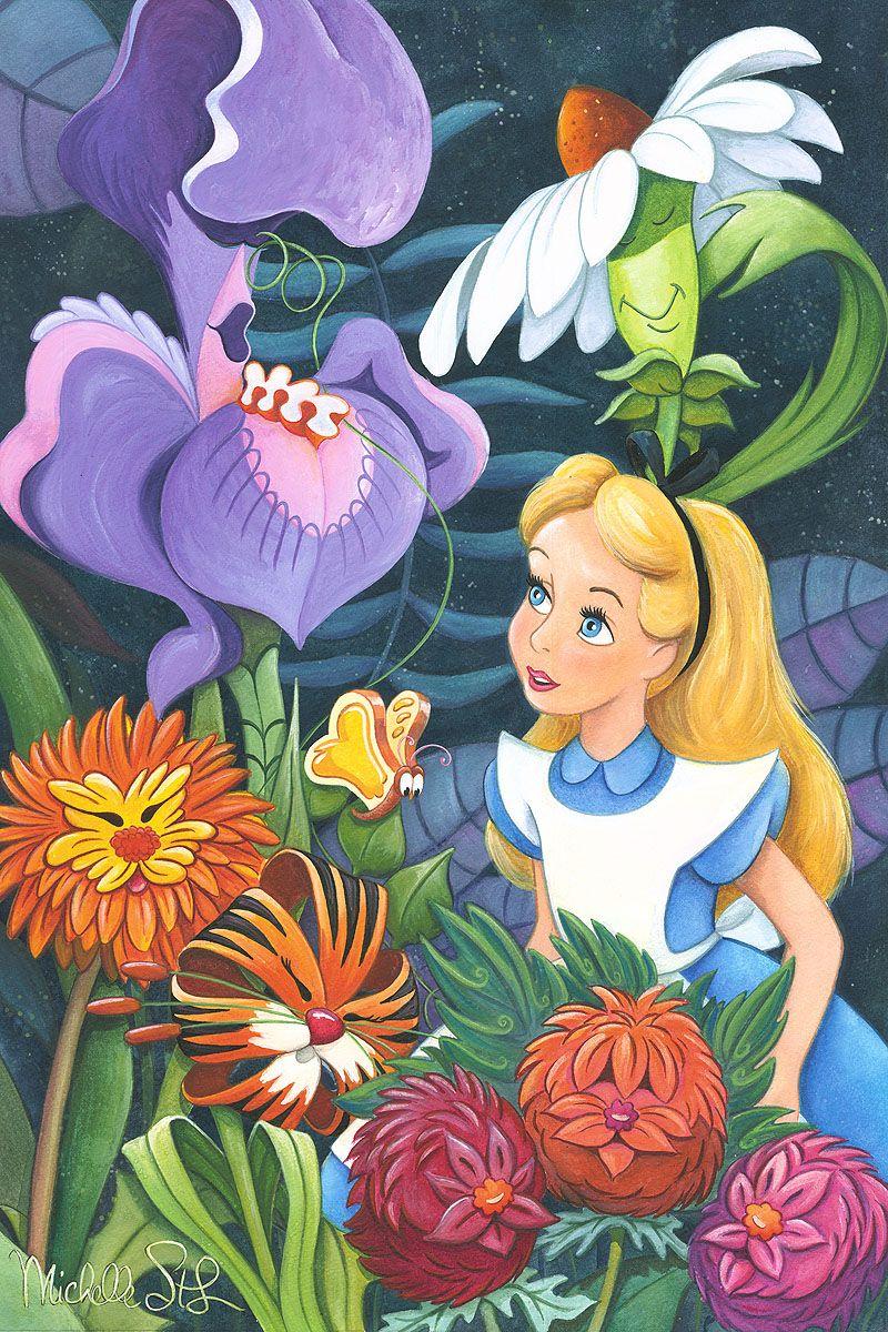 A Conversation With Flowers Alice In Wonderland Flowers Disney