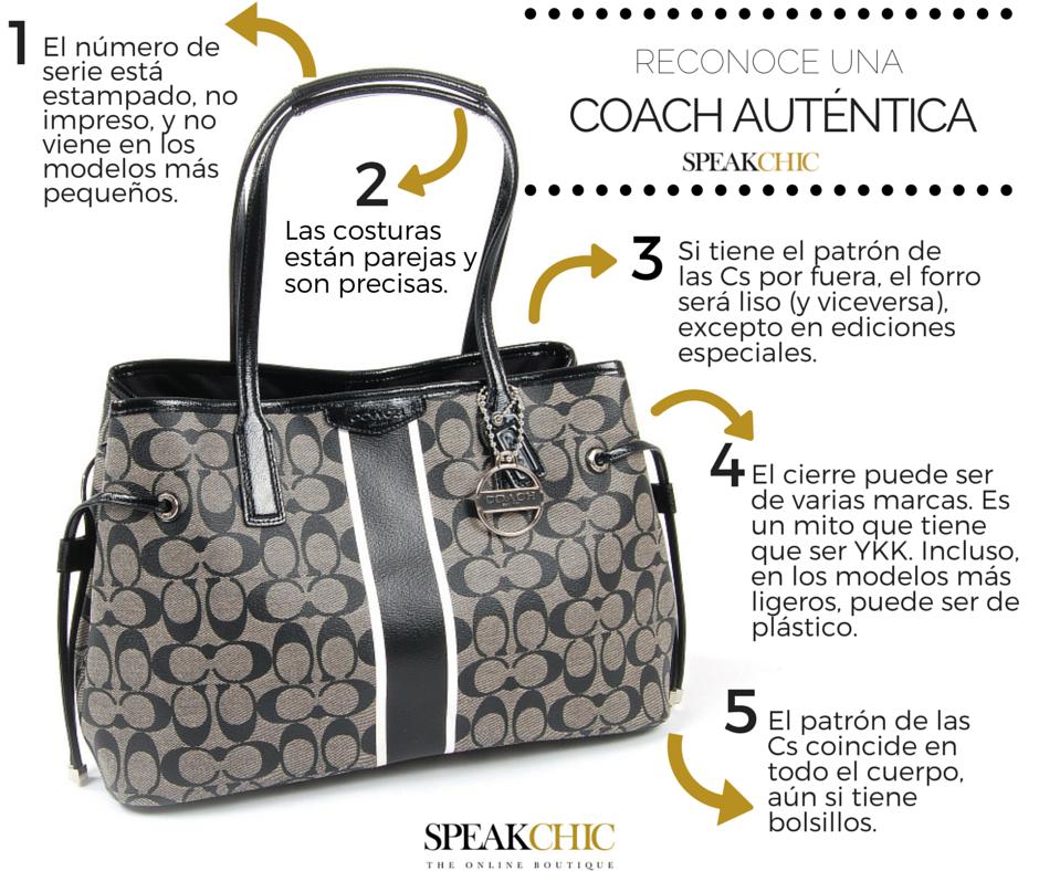 Cómo reconocer una bolsa COACH original. Encuéntralas en www.speakchic.mx (( Bolsa 6b1ff48cb1c