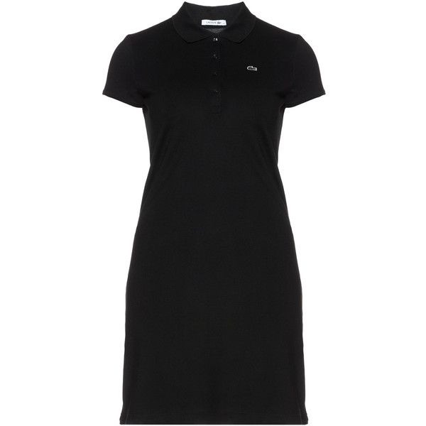 Lacoste Black Plus Size Polo Dress 145 Liked On Polyvore