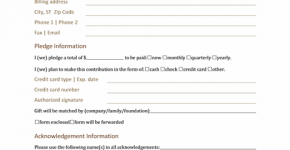 donation pledge form collection of everyday word templates