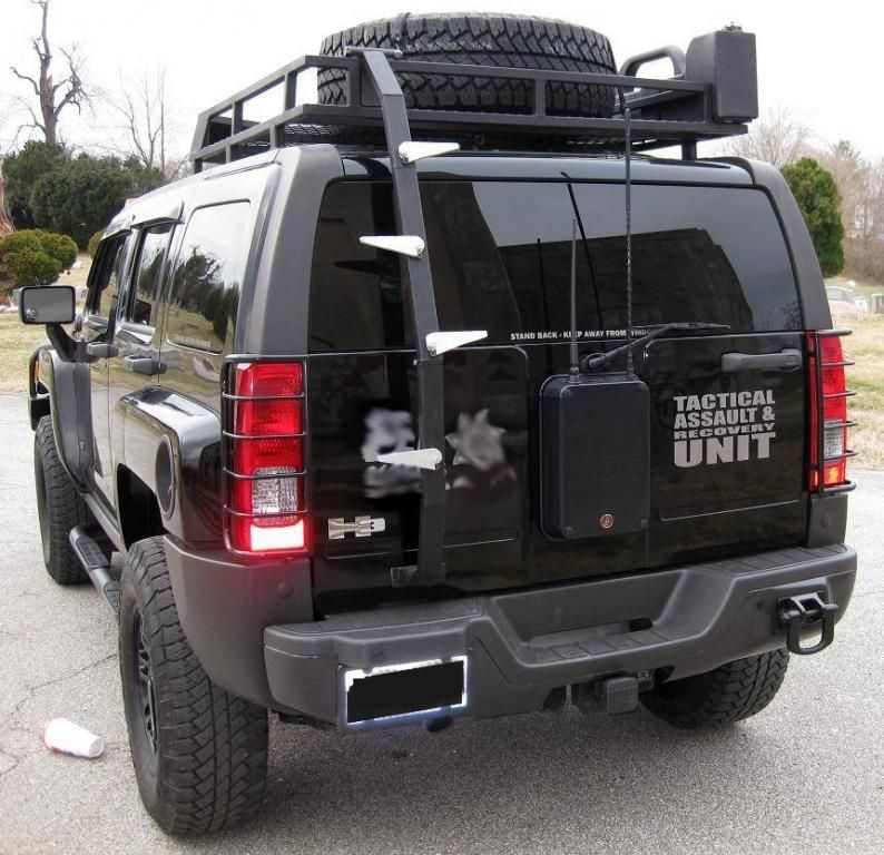Hummer H3 Ladder Anyone Know Where I Can Buy A Ladder Like This Roof Rack Hummer H3 Fj Cruiser