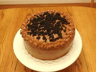 Chocolate Nutella Layer Cake http://thatoldoven.blogspot.com/2016/01/chocolate-nutella-layer-cake-part-2.html