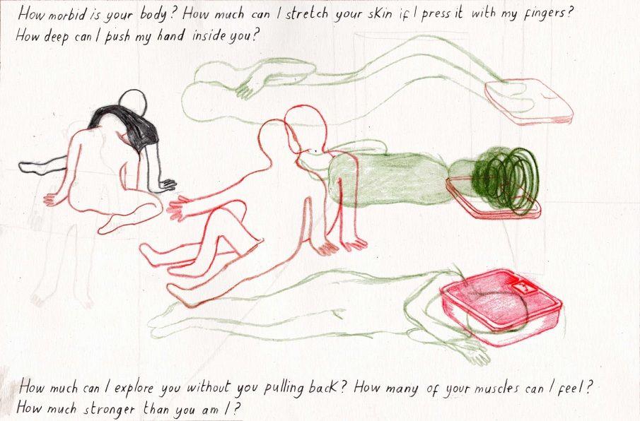 """Illustrazione di Lisa Passaniti realizzata per la mostra """"Performing Gender""""."""