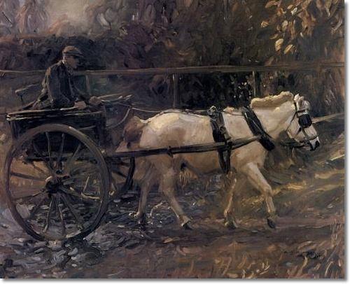 Alfred J Munnings Ajm Shrimp And The White Pony 1909 25 X 30