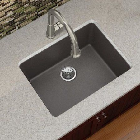 elkay elxu2522 quartz luxe 25 single basin kitchen sink for rh pinterest com