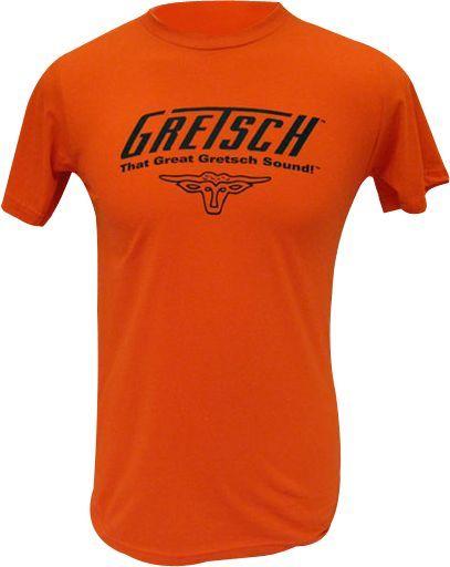Gretsch  That Great Gretsch Sound Black Orange Tee  Shirt X-Large