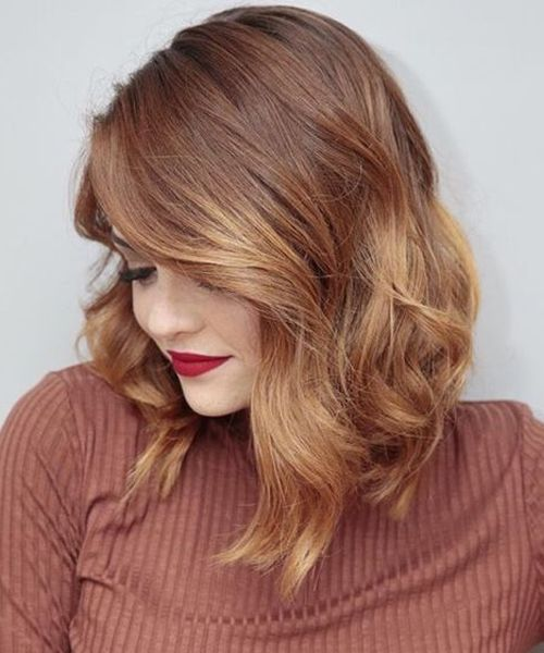 Perfect Mid Length Thick Ombre Hairstyles for Women