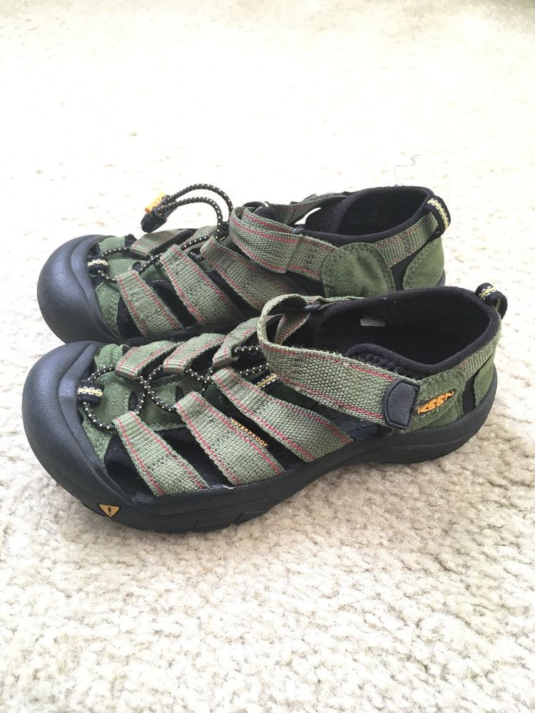 64187aa0fa10 Keen Kids Youth Boy Girl Sandals Size 3 Hiking Shoes Black Dark Green  Waterproof  fashion  clothing  shoes  accessories  kidsclothingshoesaccs   unisexshoes ...