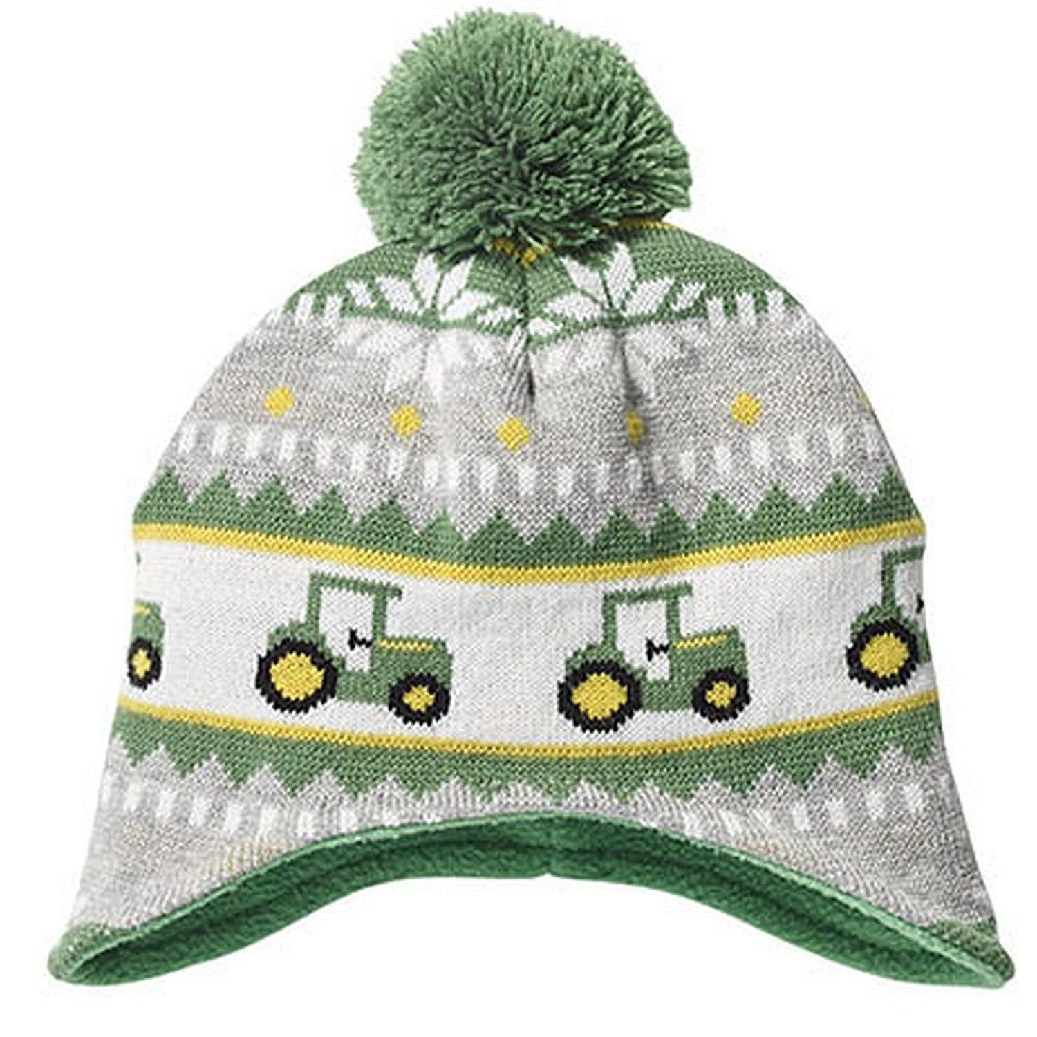 John Deere Toddler Boys Knit Hat With Tractors And Pom Dallas Mom N Bab Blouse Layla White Size 5t