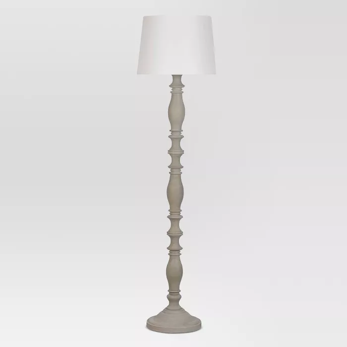 Turned Polywood Floor Lamp Threshold Target In 2020 Wood Floor Lamp Floor Lamp Grey Energy Efficient Light Bulbs