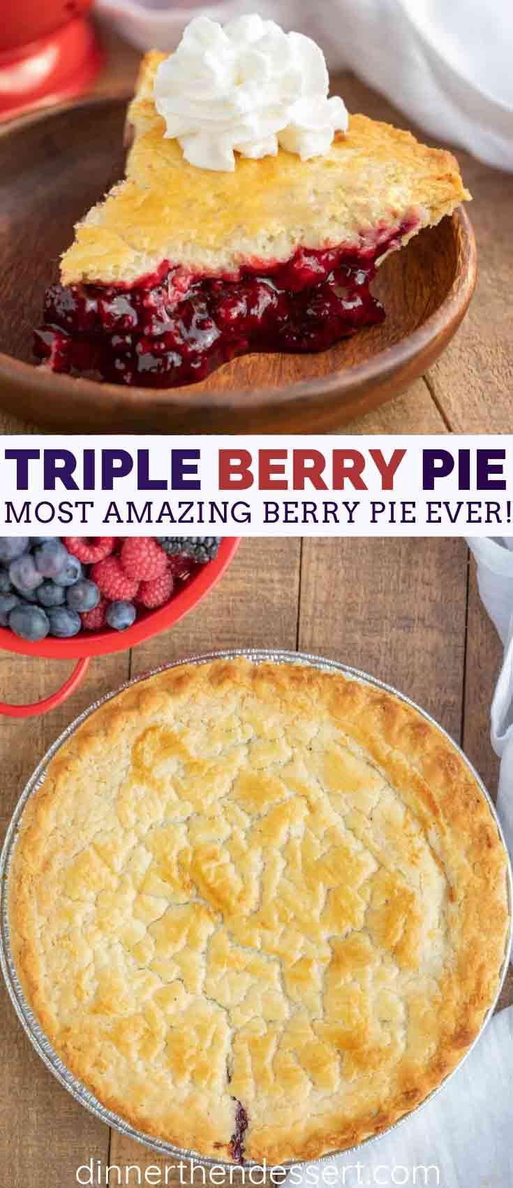 Mixed Berry Pie - Dinner, then Dessert