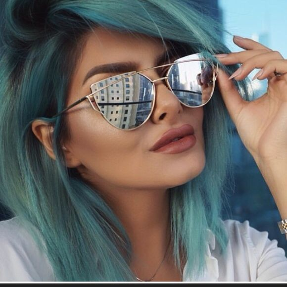 ef1c2a80425 Silver mirrored Cateye sunglasses As seen on Kylie Jenner ASOS Accessories  Sunglasses