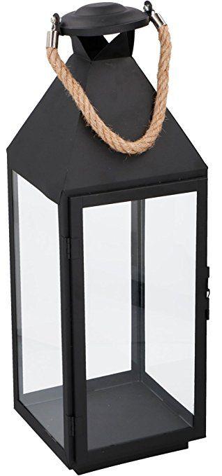 Laterne Metall #1 Seil Griff Windlicht Kerze Teelicht Deko Kerze ...