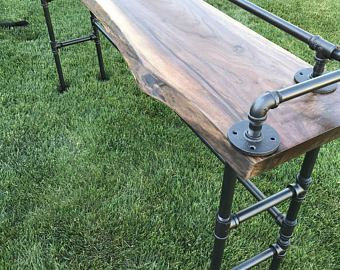 Reclaimed Barn Wood Sofa Bar Table   6 Foot