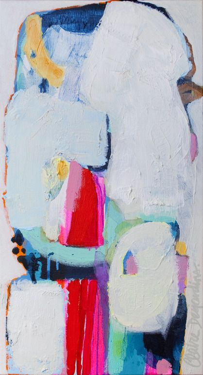 """""""Again"""" by Claire Desjardins - 16""""x30"""" - Acrylics on canvas."""