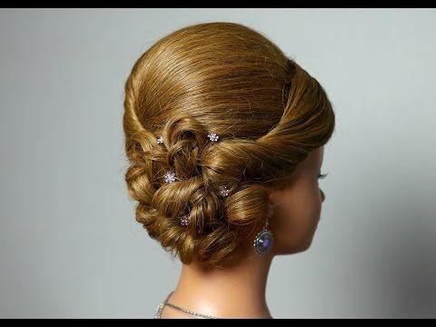 Вечерняя прическа для длинных волос прическа на выпускной