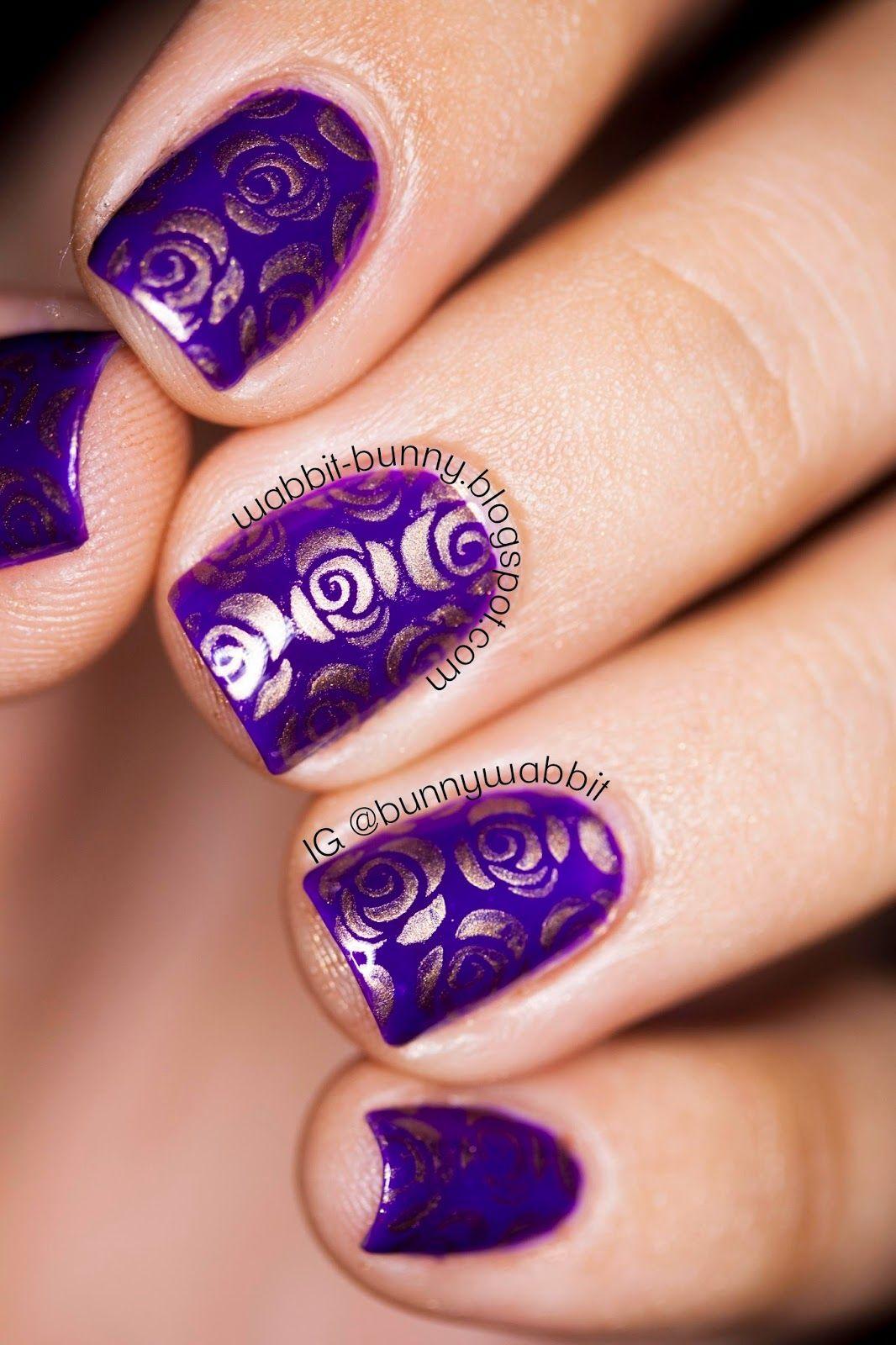 Wabbit Bunny Roses Are Violet Orly Nailart Nail Art Community