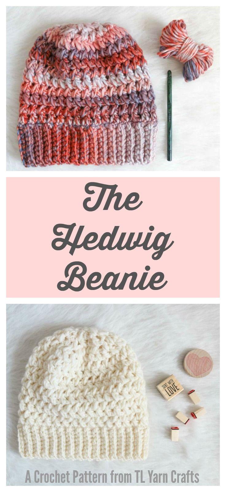 Hedwig Beanie Crochet Pdf Pattern Easy Beanie Pattern Crochet
