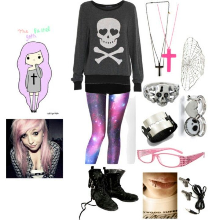 pastel goth outfits - Google zoeken on We Heart It