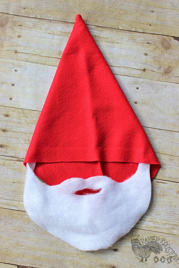 Handmade Gnome Hats- Gnome Hats With Beards- Gnome Beards- Fairy Garden Party- Party Favors- Gnome Costume #gnomecostume