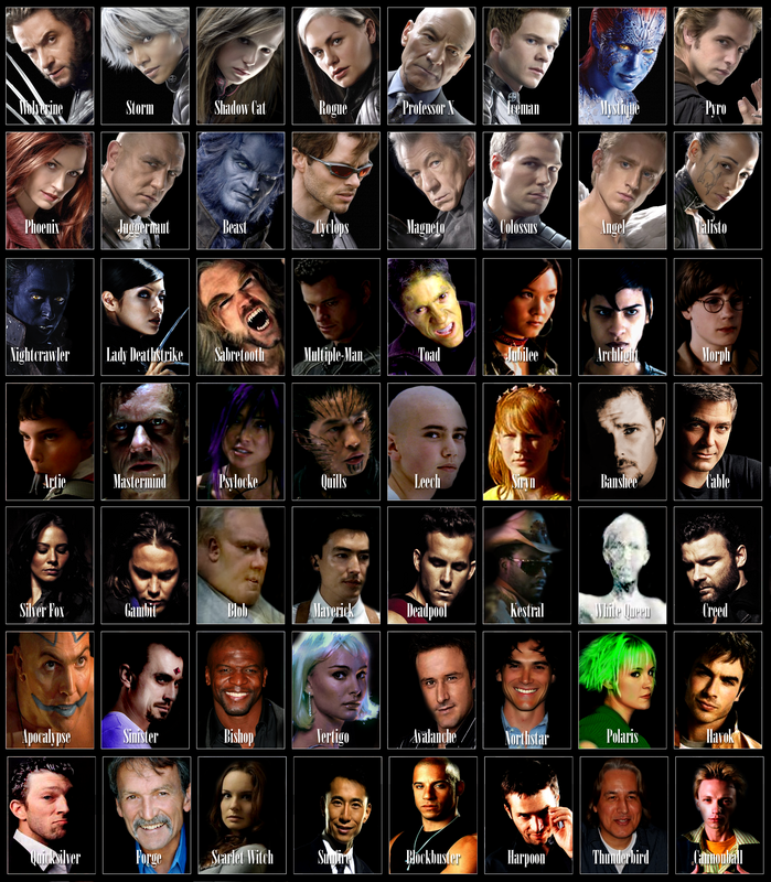 Casts of Marvel and X-Men Characters from W3 by =trivto on ...