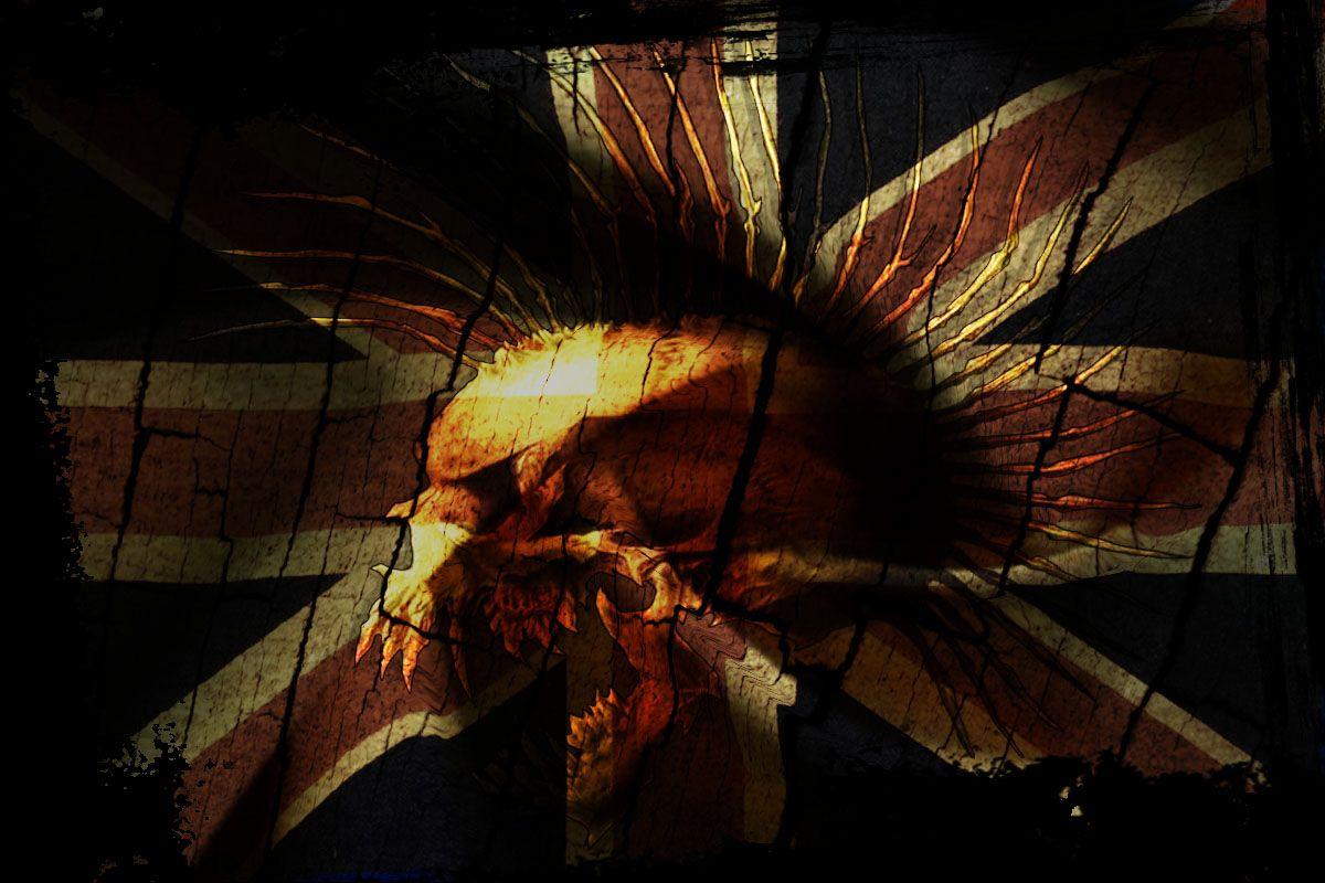 punk great britain flag wallpaper from punk wallpapers skulls