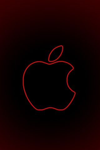 Red Apple Logo Iphone Wallpaper Bing Images Gambar Wallpaper Lucu